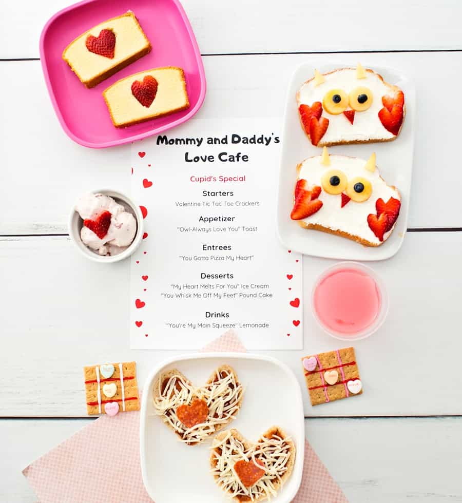 Printable Valentine Dinner Menu For Kids