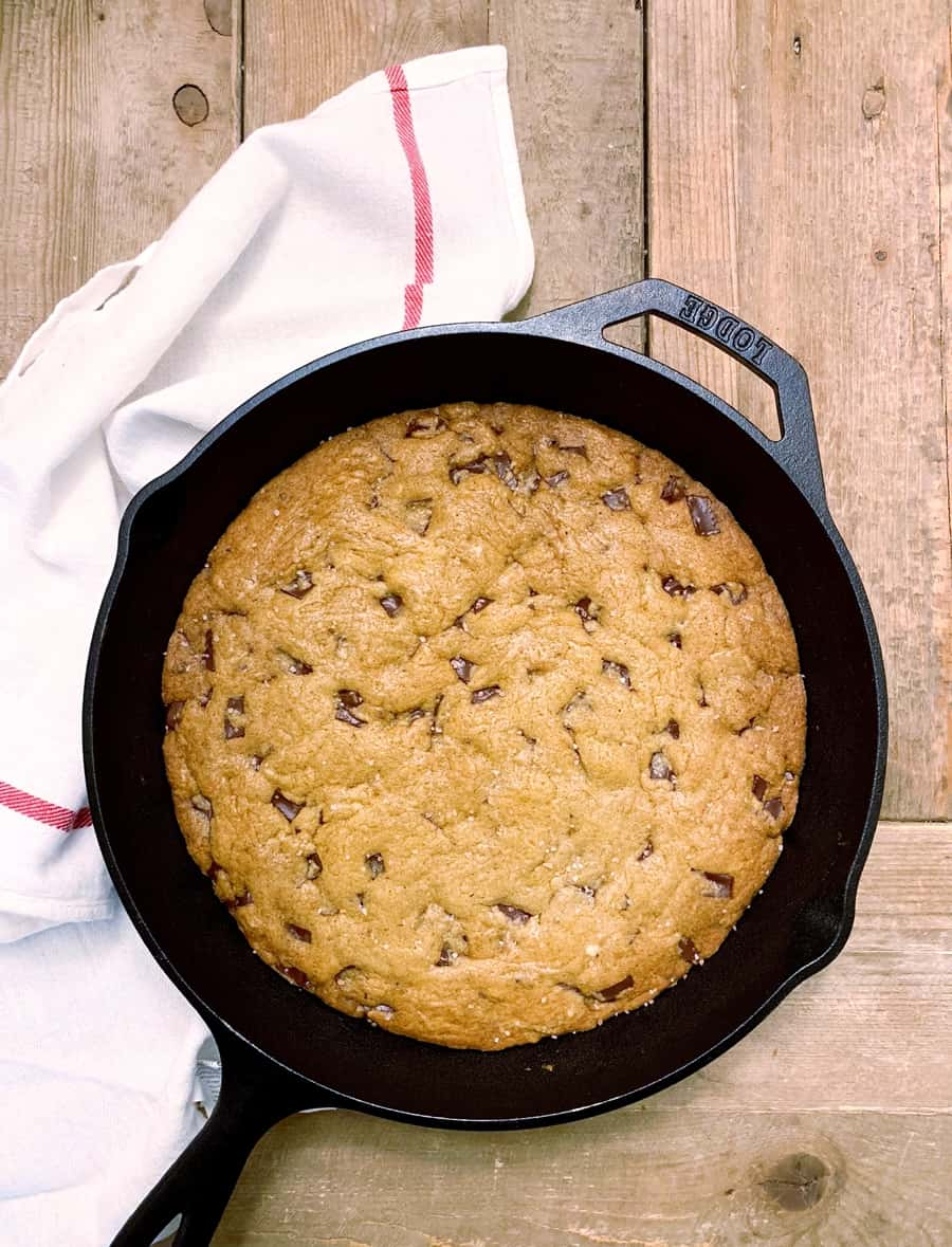 One Bowl Skillet Chocolate Chip Cookie