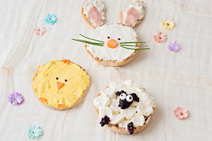 Celebrate spring by making your kids this adorable animal-themed lunch or breakfast of bunny chick and sheep Easter Toast!