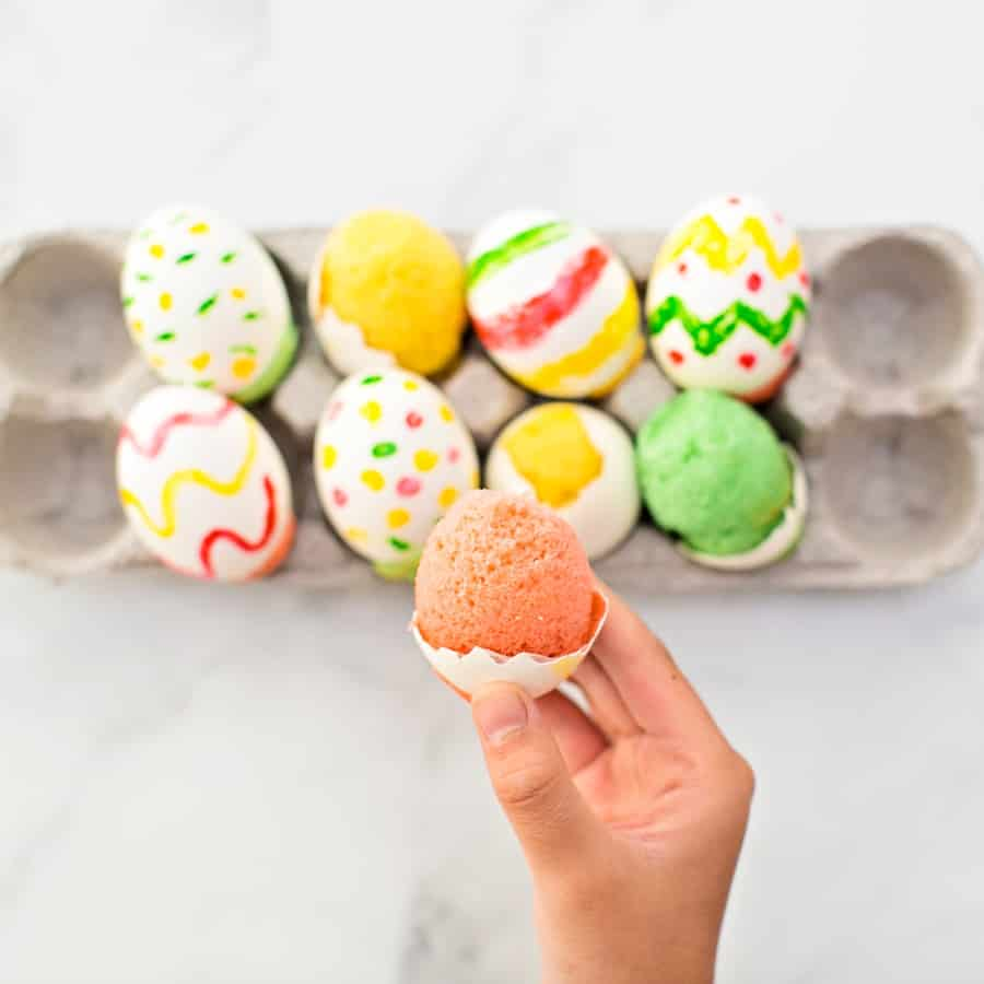 These mini Cake in Eggshells are a fun spring surprise and clever sweet treat of an April Fool's prank! The perfect Easter treat for kids.