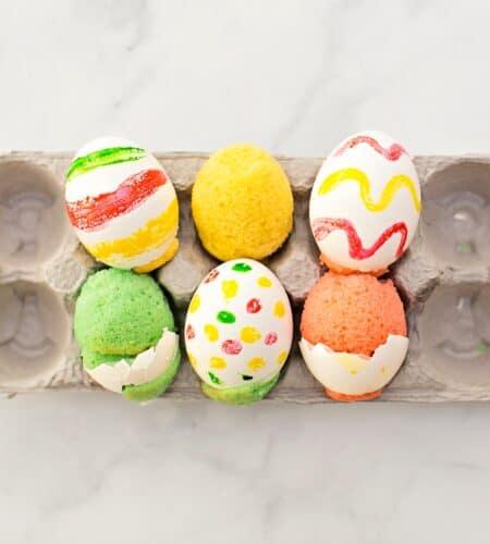 Cake In Eggshells Cute Easter Treat