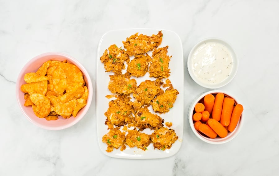 These Barbecue Ranch Potato Chip Chicken Tenders are healthier than fried chicken nuggets and make a great kid lunch or dinner.