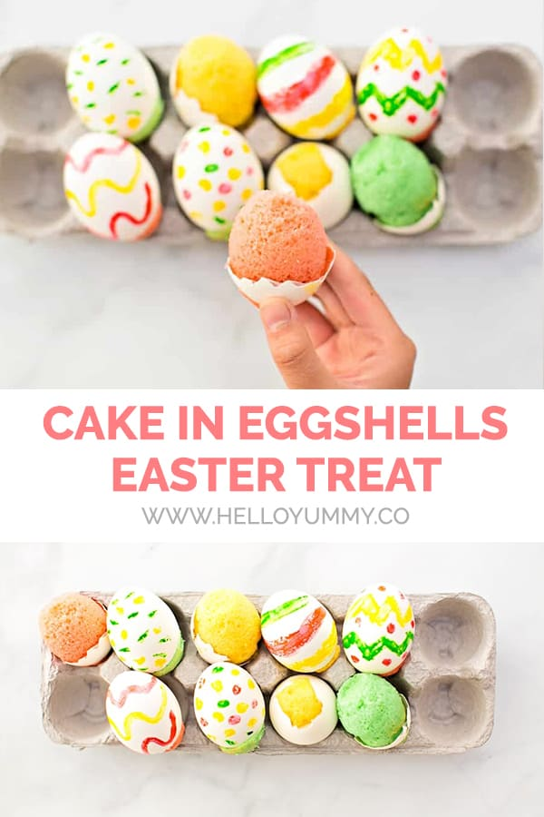 Cake in Eggshells Easter Treat