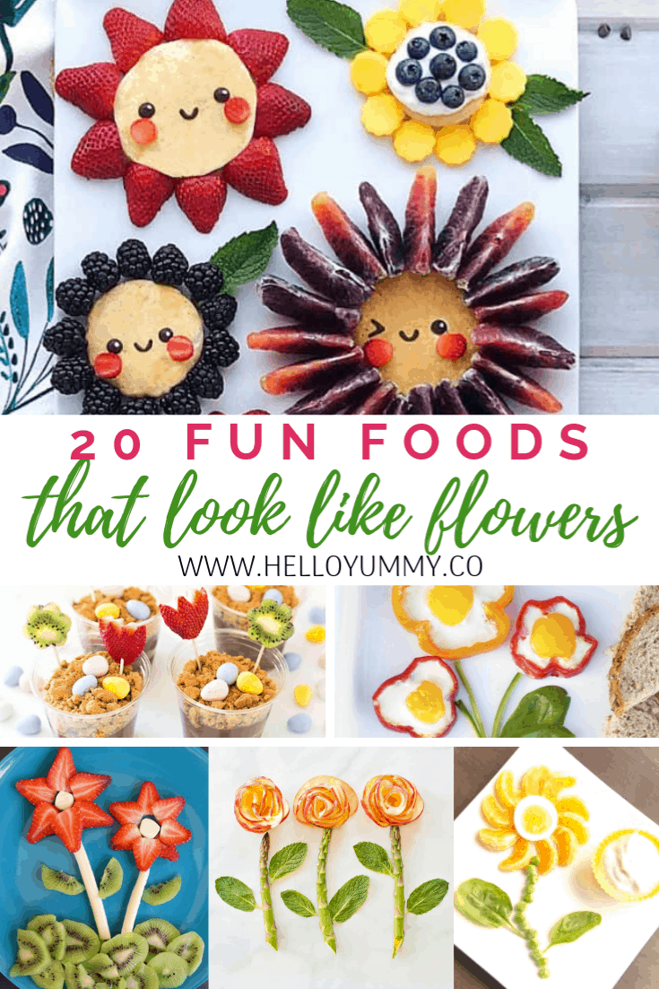 fun foods that look like flowers