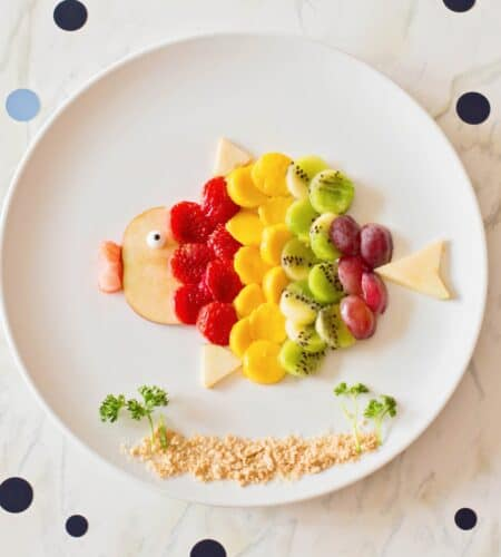 Rainbow Fruit Art For Kids | Simple Fish Food Art