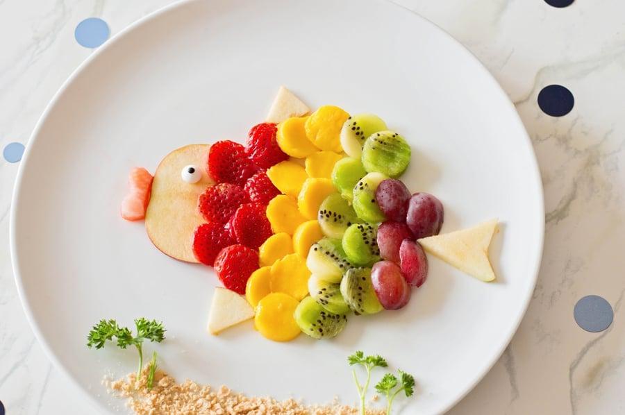 Rainbow Fruit Fish Food Art