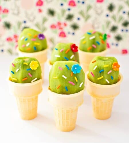 Cactus Kiwi Fruit Ice Cream Cones