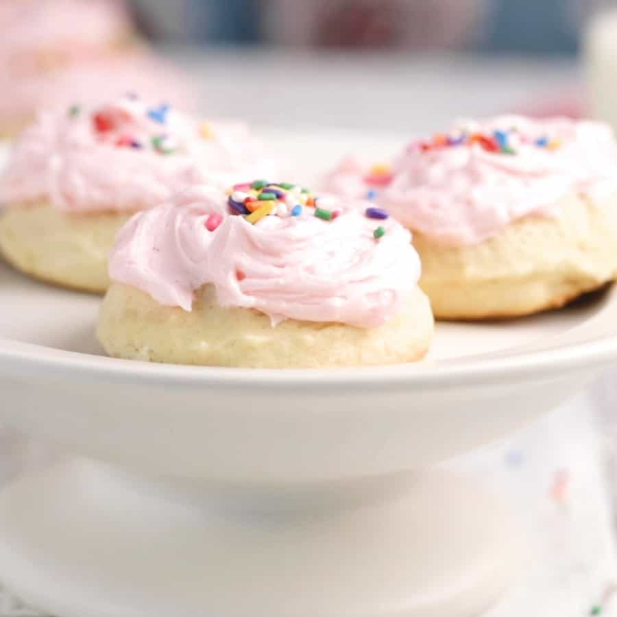 The Best Soft Baked Frosted Vanilla Sugar Cookie Recipe