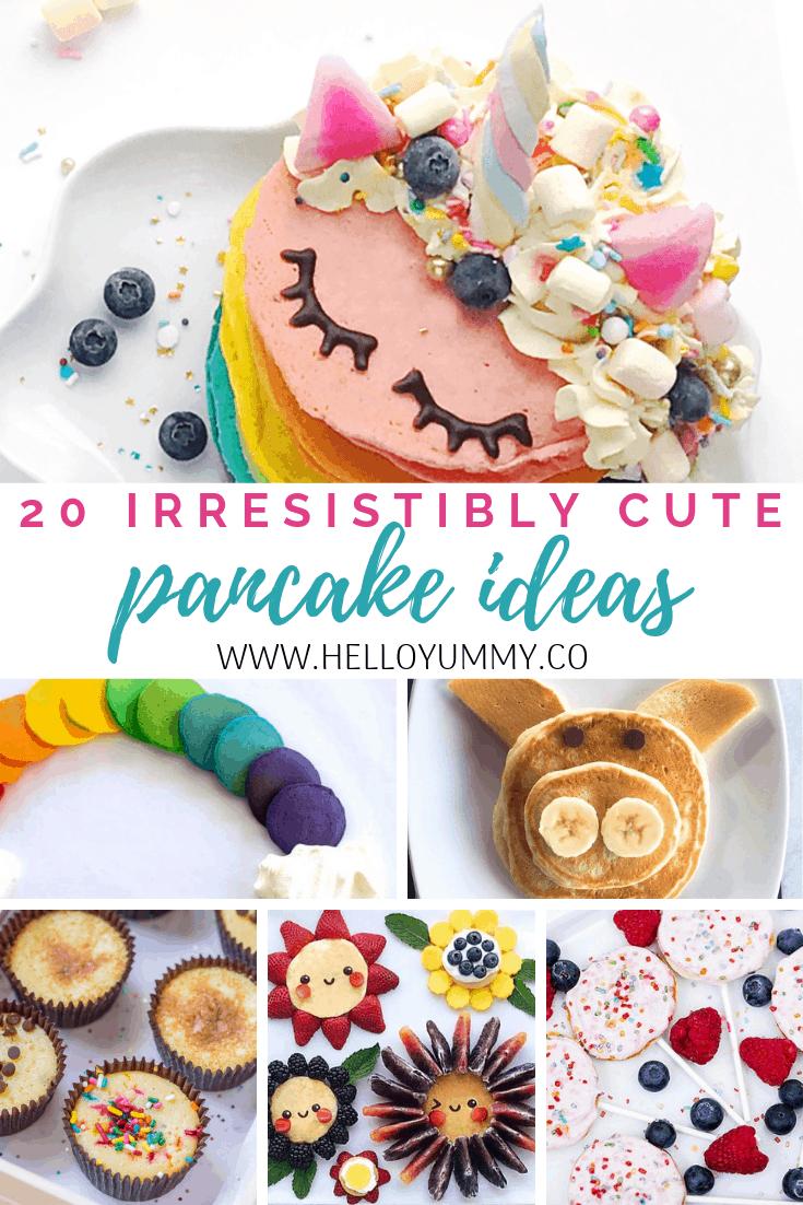 20 Irresistibly Cute Pancake Ideas.
