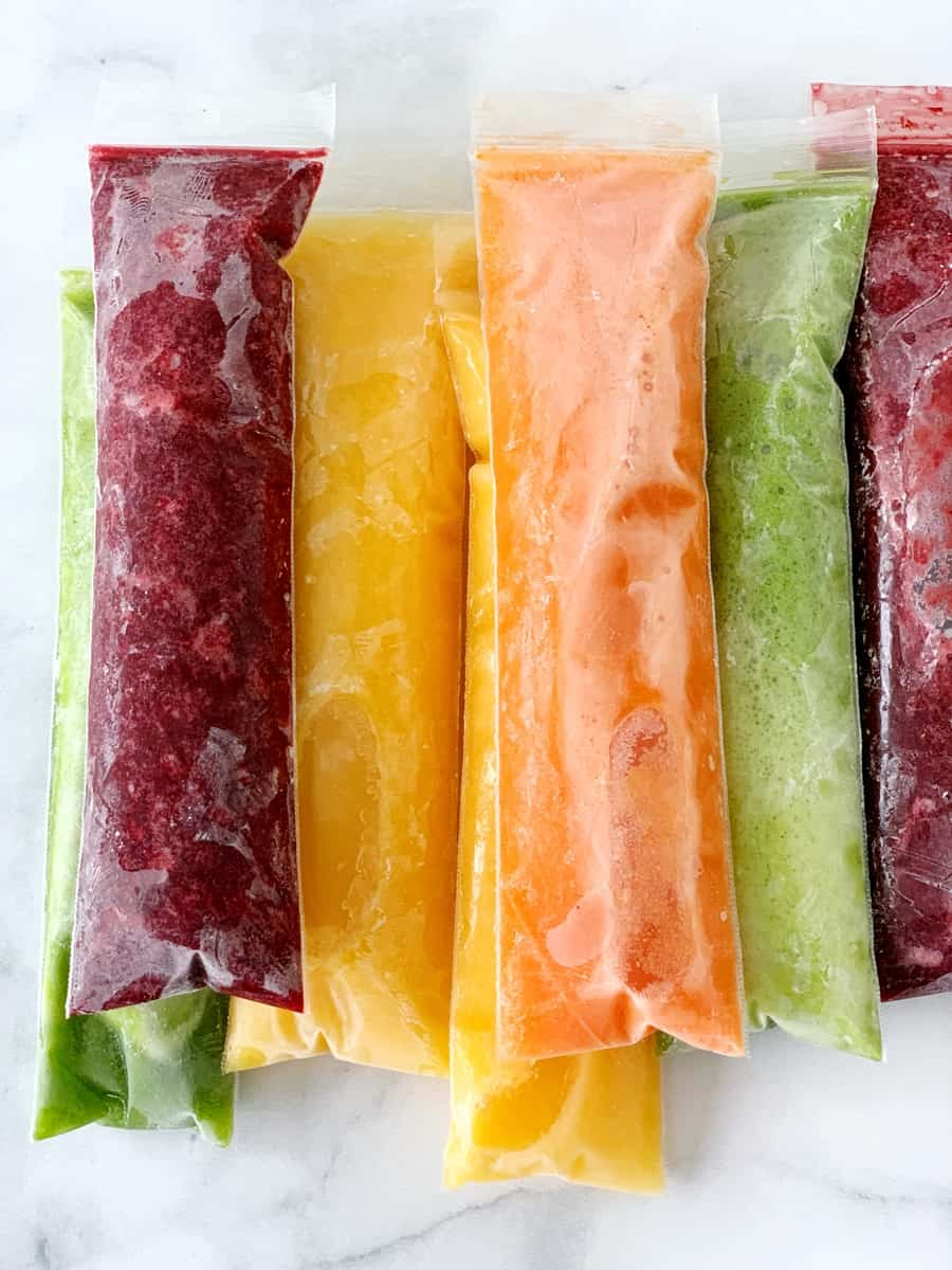 Healthy Fruit and Vegetable Ice Pops