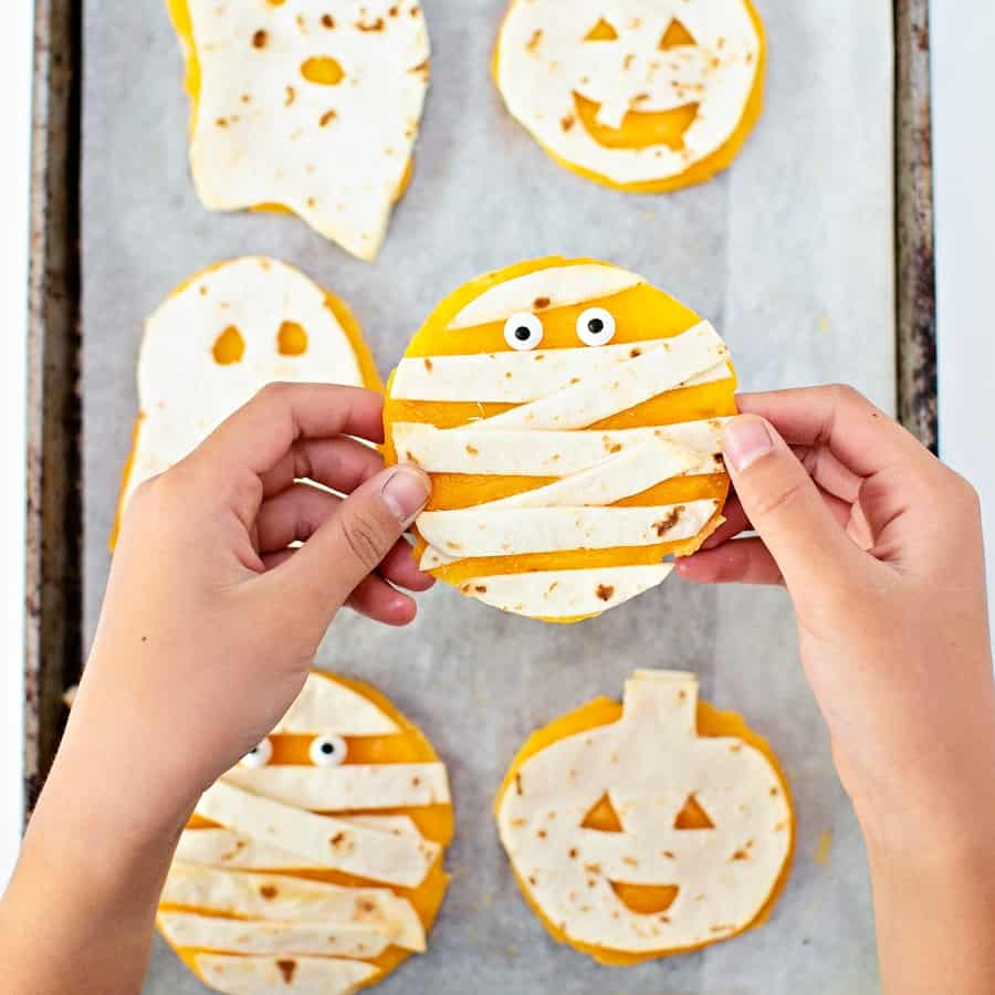 Mini Halloween Quesadillas - Halloween lunch for Kids