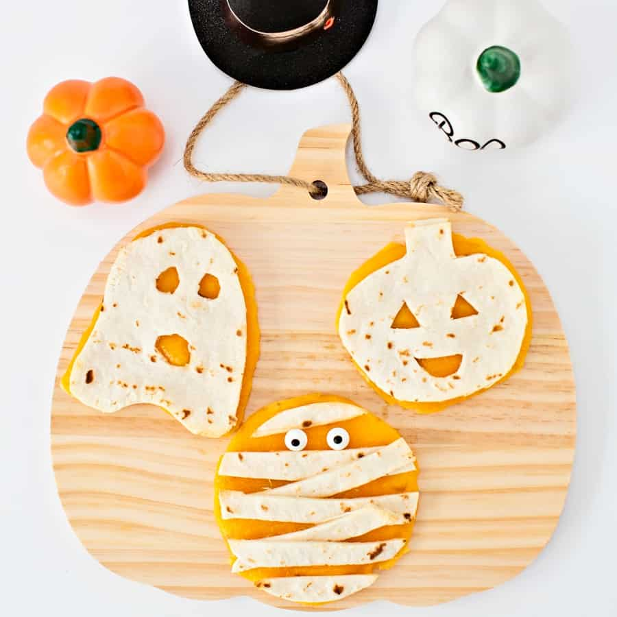 Mini Halloween Quesadillas
