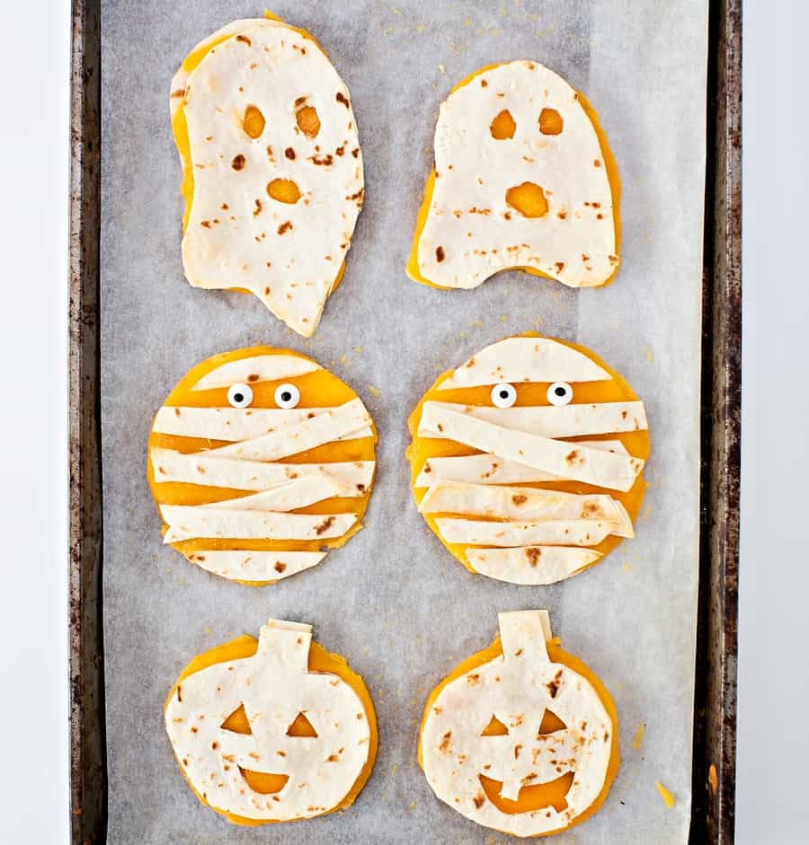 Mini Halloween Quesadillas - Snack for Kids