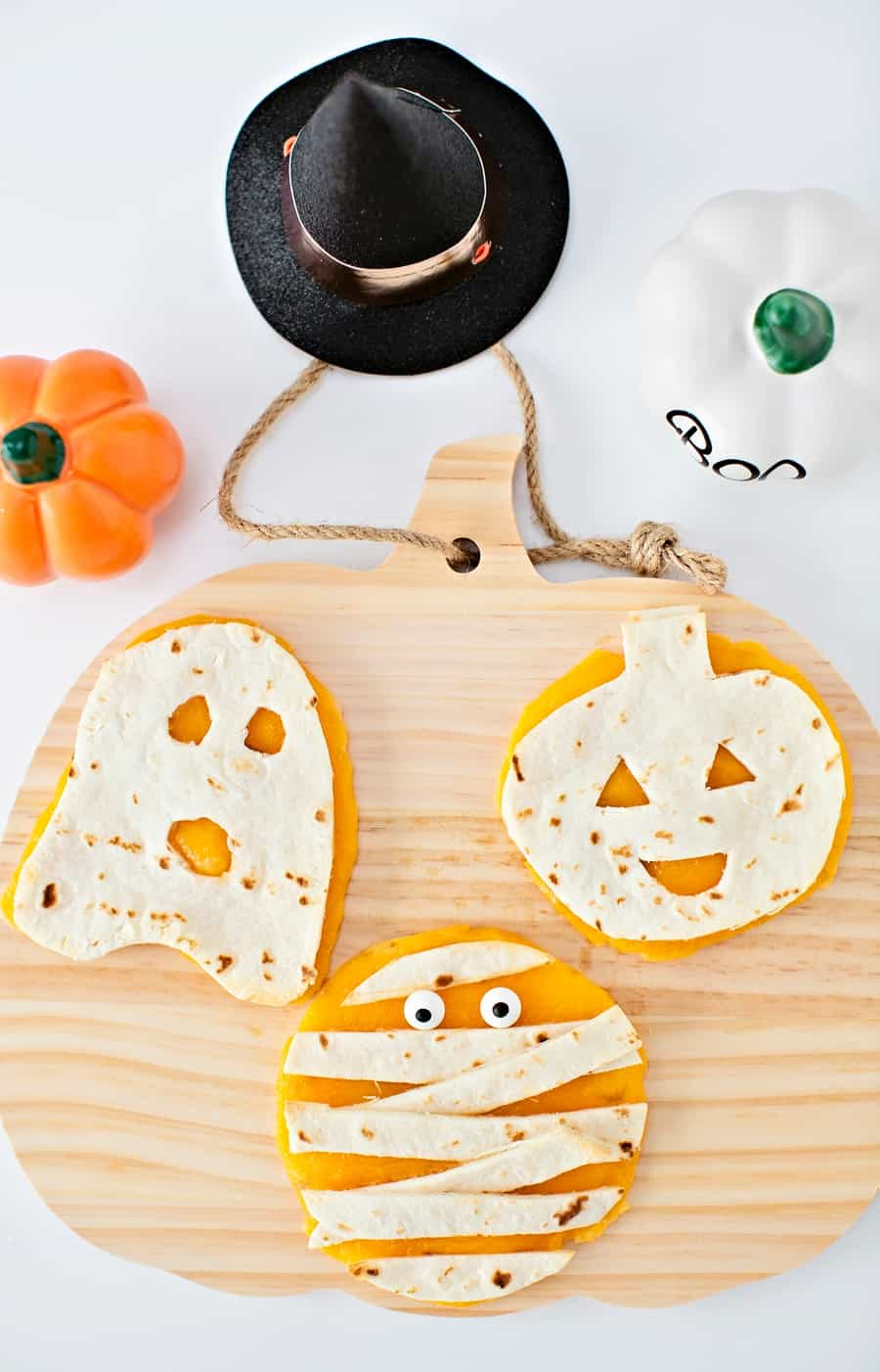Mini Halloween Quesadillas - Cute Halloween Snack For Kids