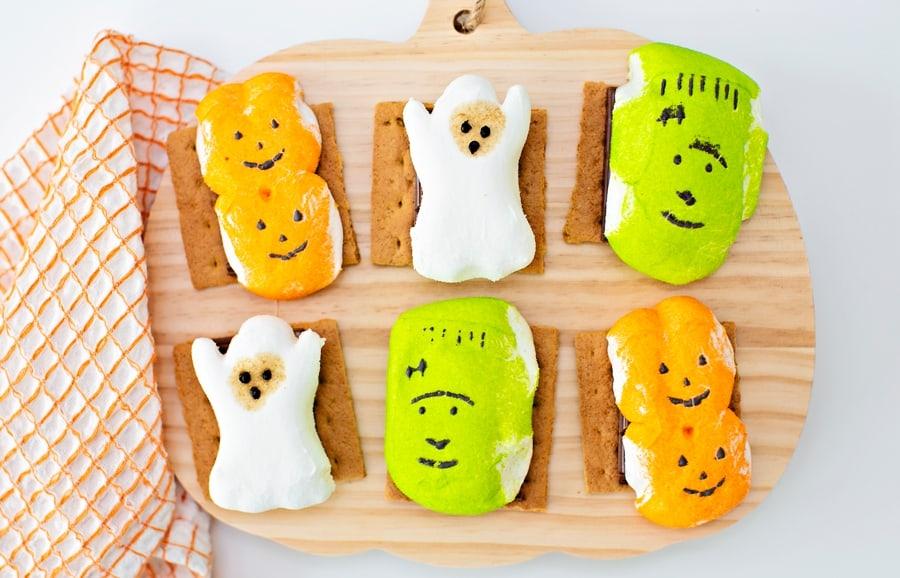 Halloween S'mores - cute Halloween treat for kids