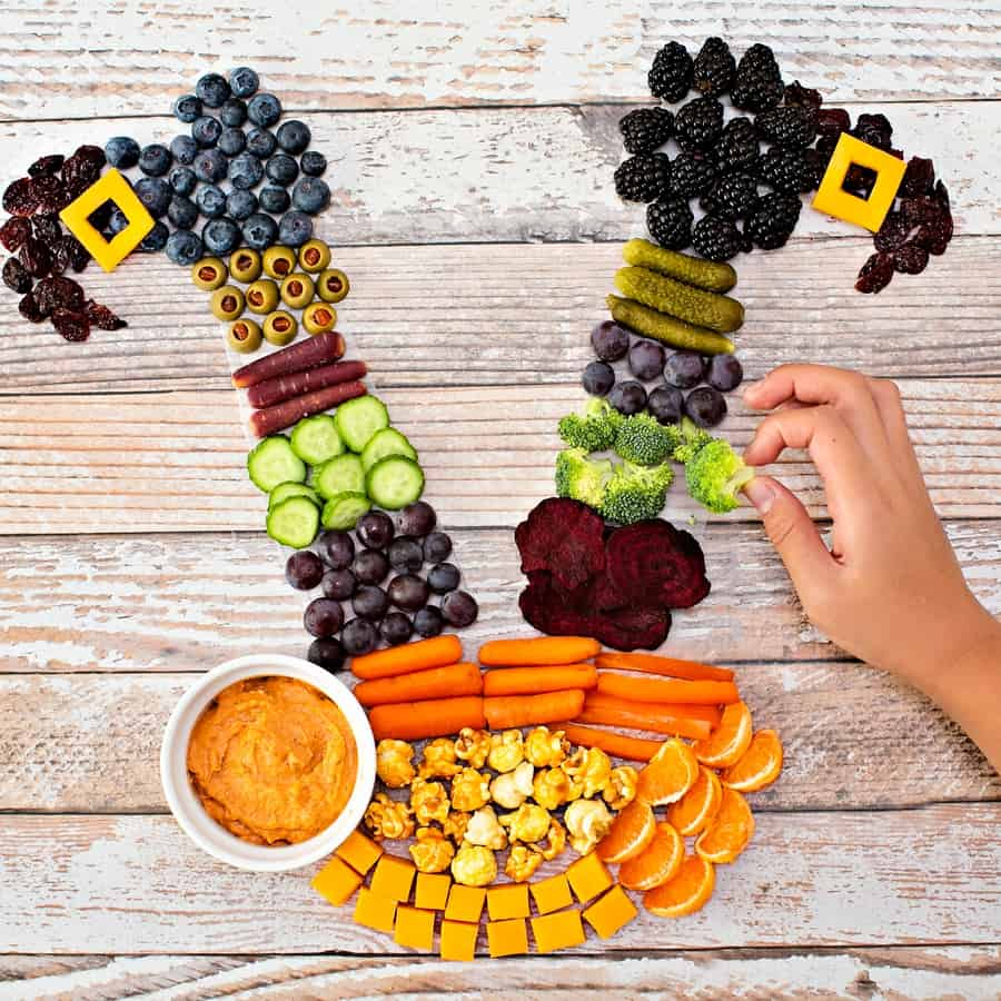 Halloween Witch Fruit and Veggie Snack Tray