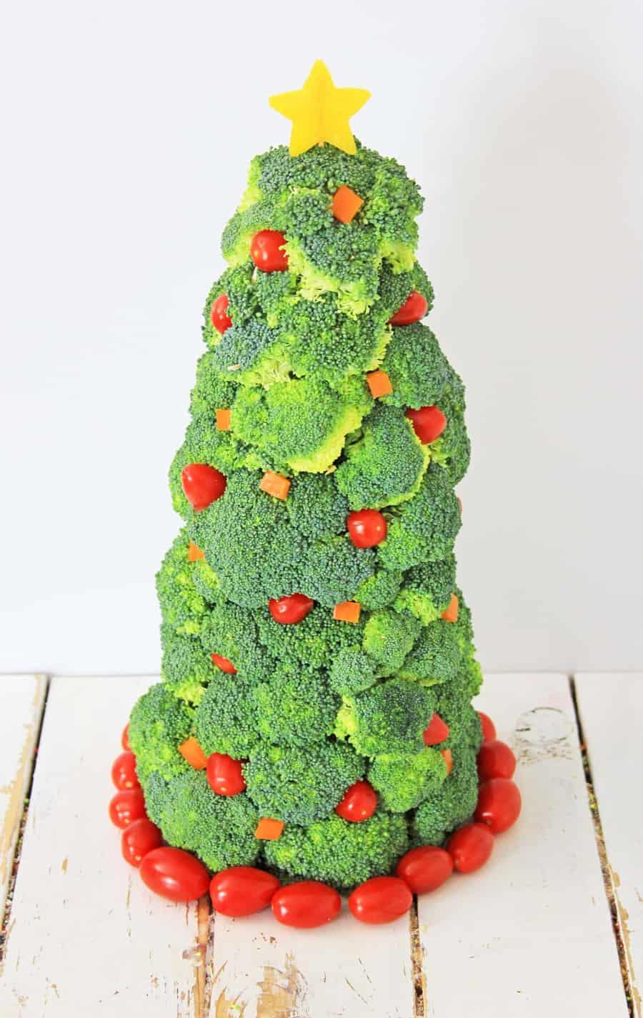 Broccoli Christmas Tree Healthy Holiday Snack