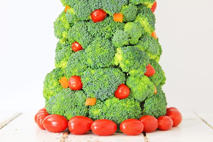 Broccoli Christmas Tree Healthy Holiday Snack for Kids