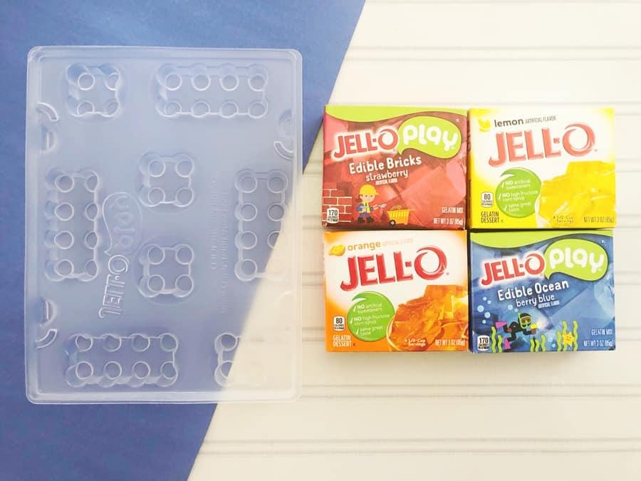 Jello LEGO treats for kids - Jell-O Play Jungle Build Mold