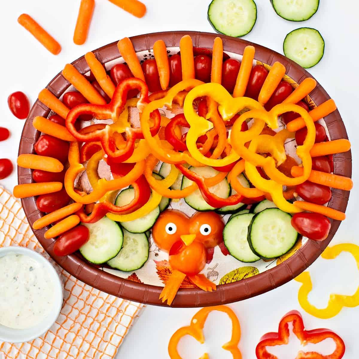 Easy Turkey Veggie Snack Tray