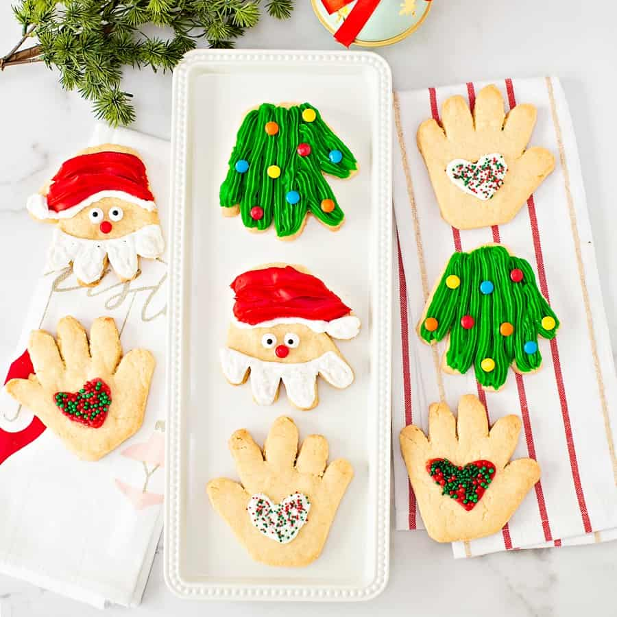 Handprint Christmas Sugar Cookies