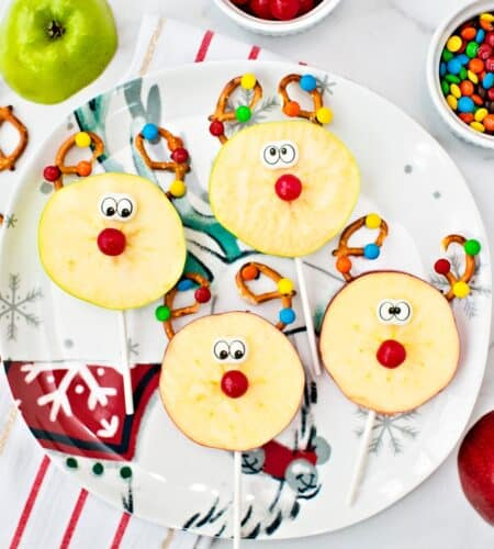 Rudolph Reindeer Apple Pops