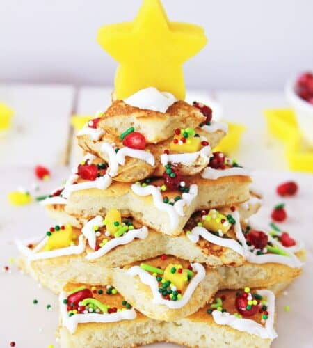 Stacked Christmas Tree Pancakes