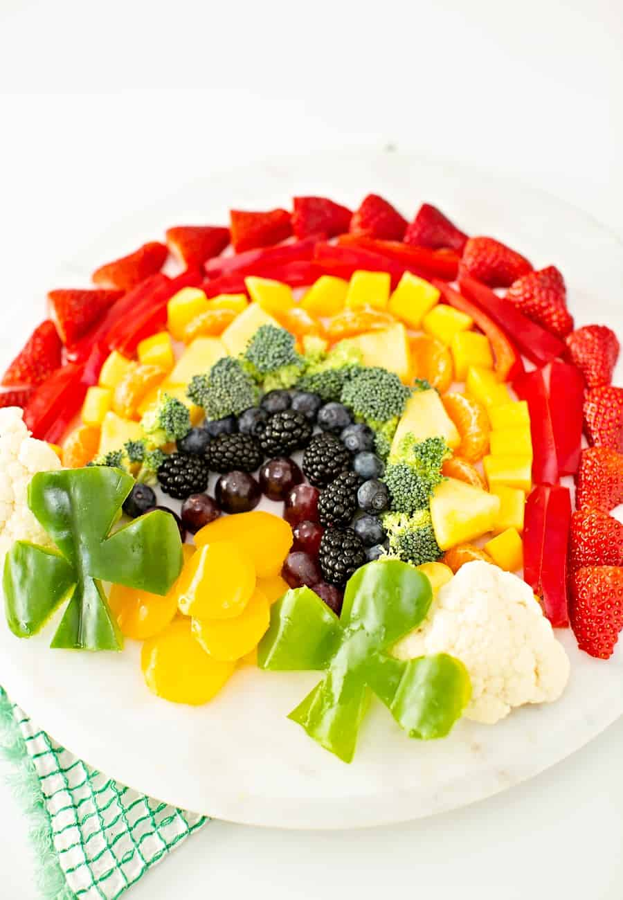 St. Patrick's Day Fruit and Veggie Tray