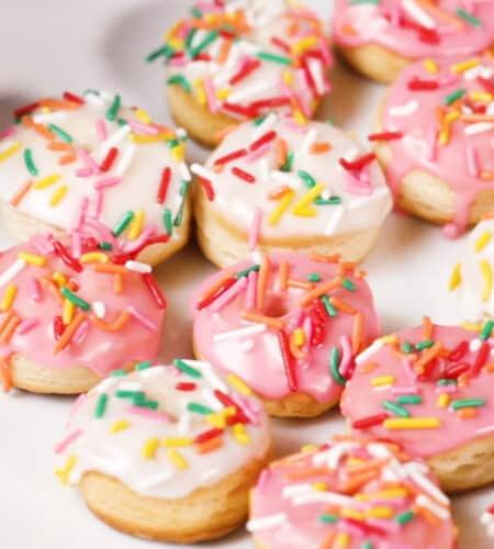Mini Biscuit Rainbow Donuts