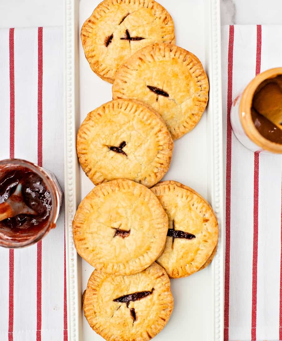 Peanut Butter and Jelly sandwich pies. Easy kid-friendly snack on the go.