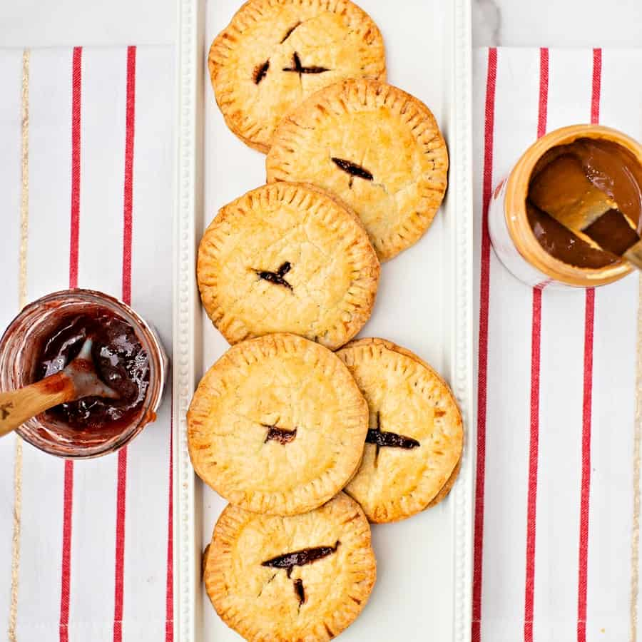 Peanut Butter and Jelly Hand Pies. Easy and delicious kid-friendly snack on the go.