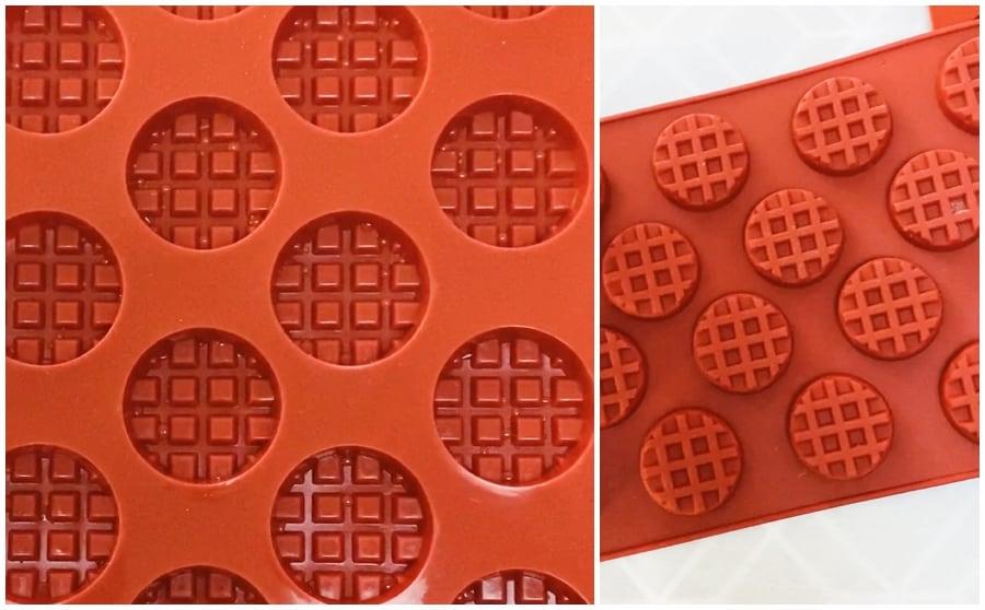 mini waffle silicone molds