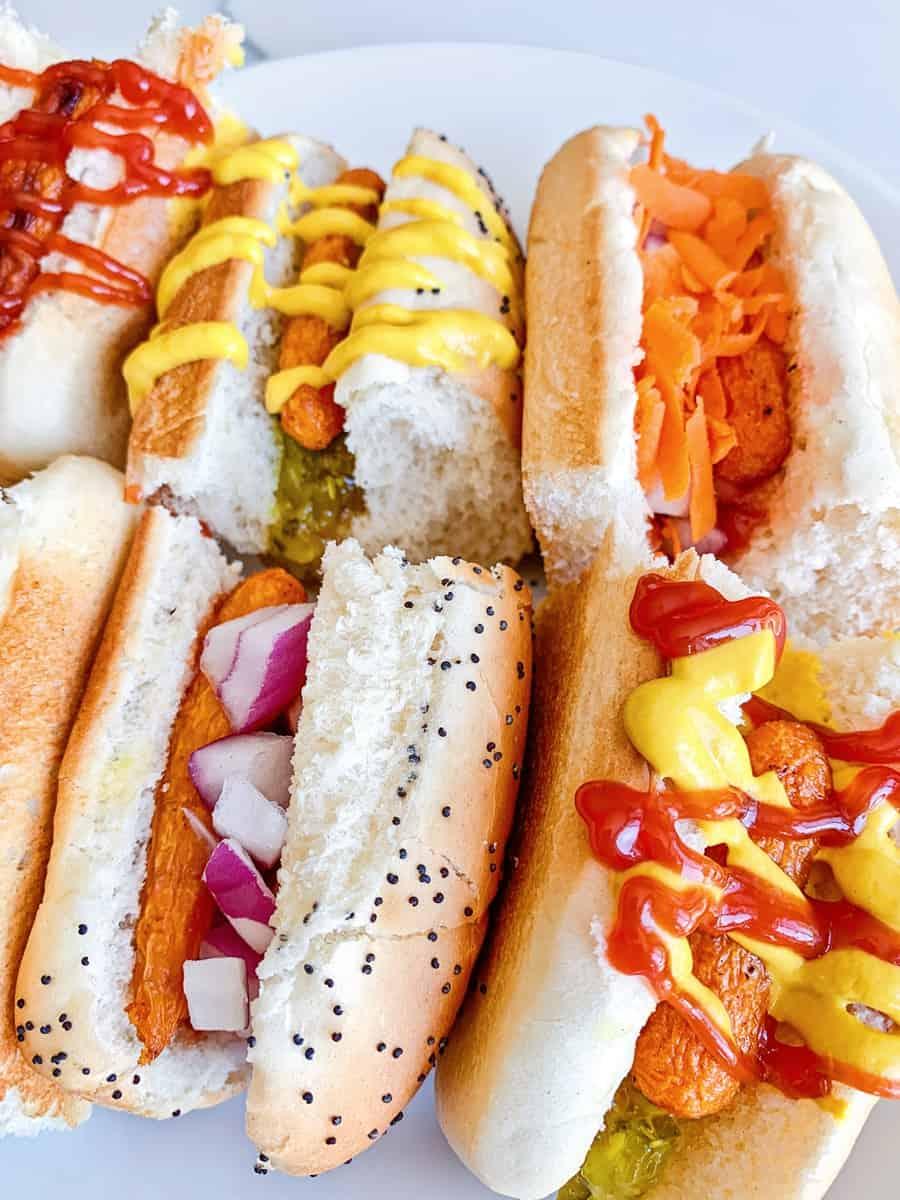 mini carrot hot dogs