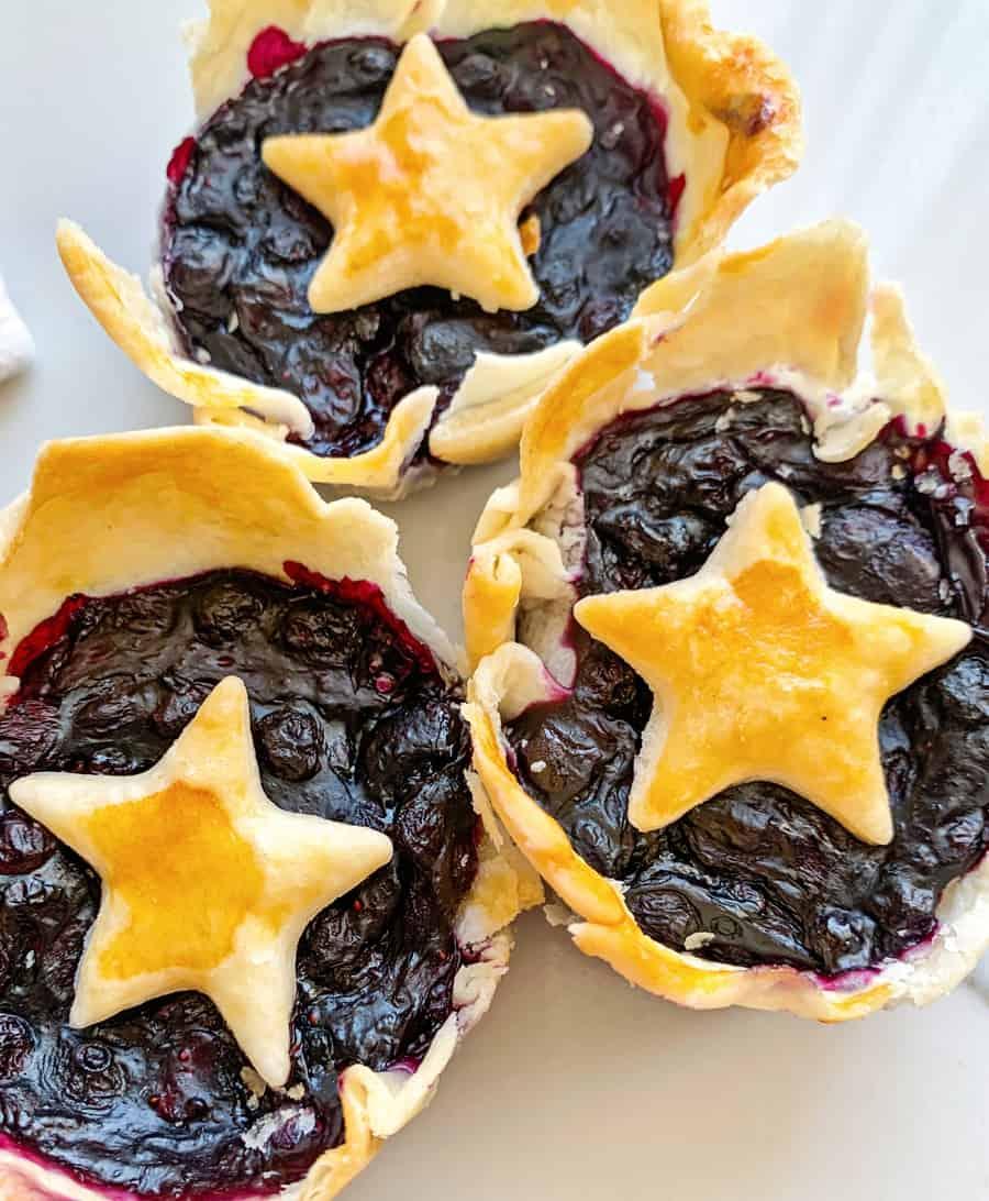 Mini Berry Star Pies Fourth of July Dessert