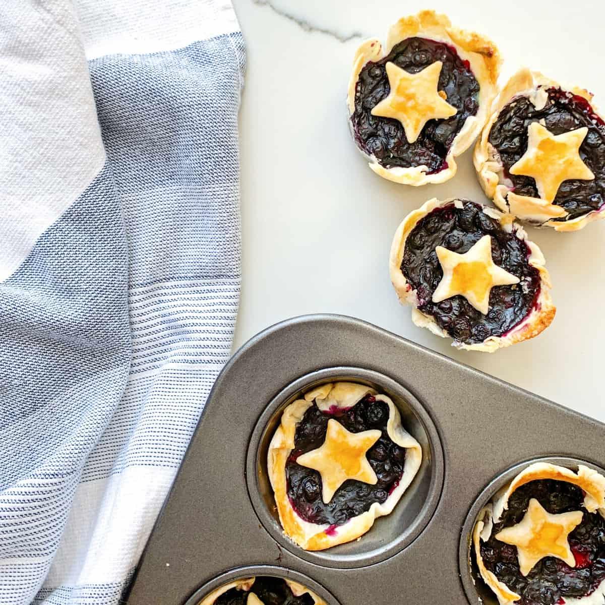 Mini Berry Star Pies