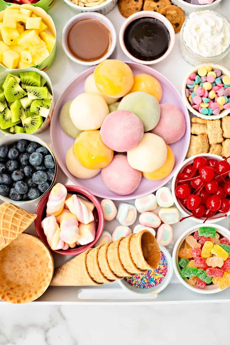 mochi ice cream sundae bar
