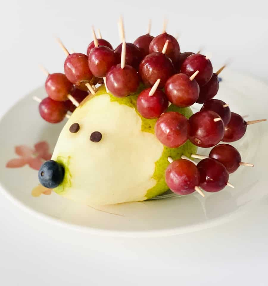 Grape Hedgehog Food Art
