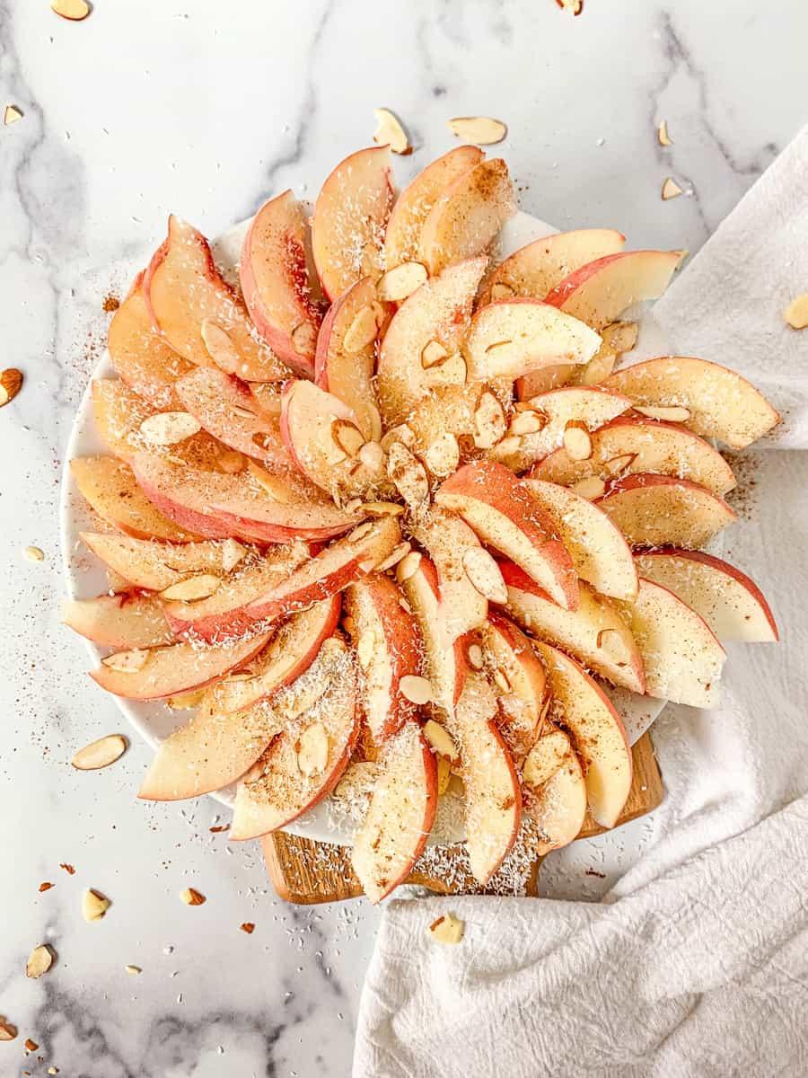 peach nachos summer fruit snack for kids