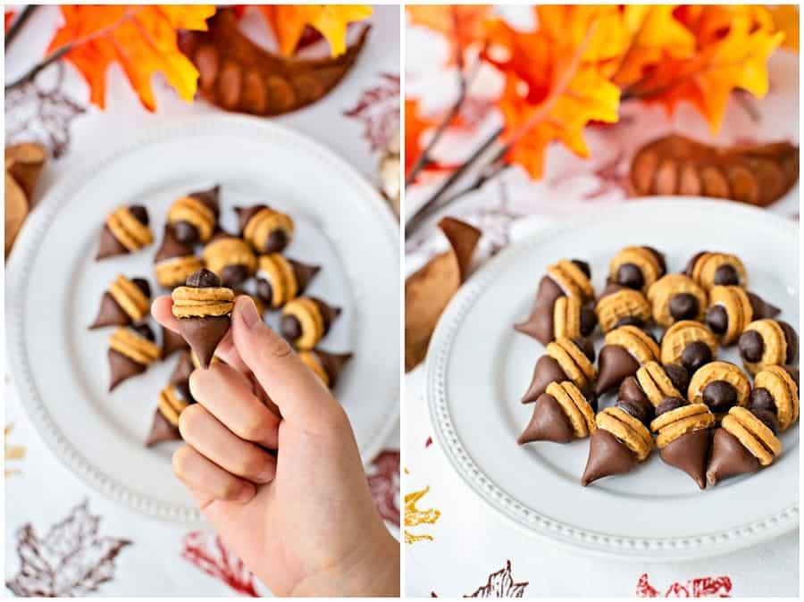 how to make acorn cookies fall treat
