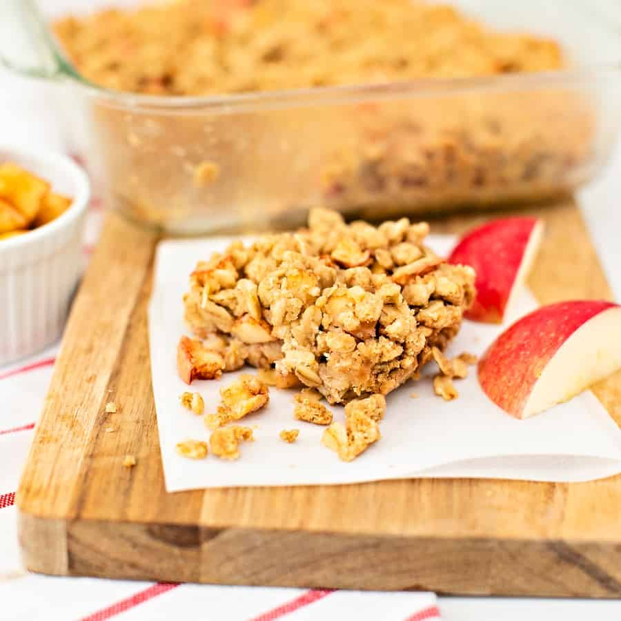 how to make apple oatmeal crumble bars