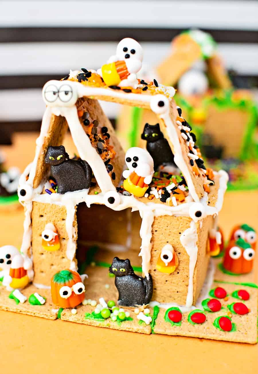 Haunted Houses made out of graham crackers