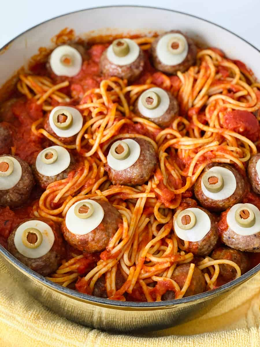 eyeball spaghetti and meatballs