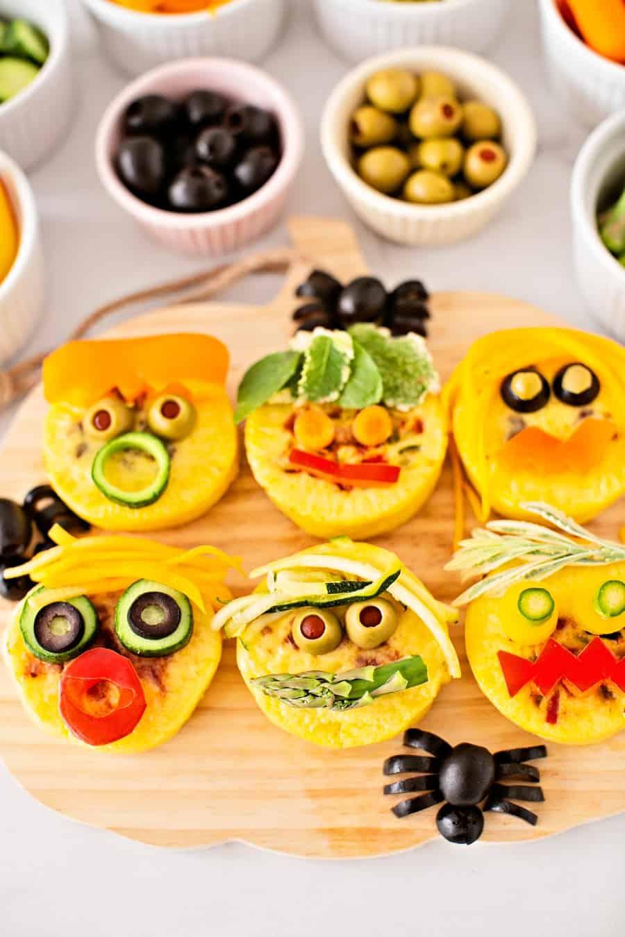 Egg Bites Monster Faces Kids Lunch
