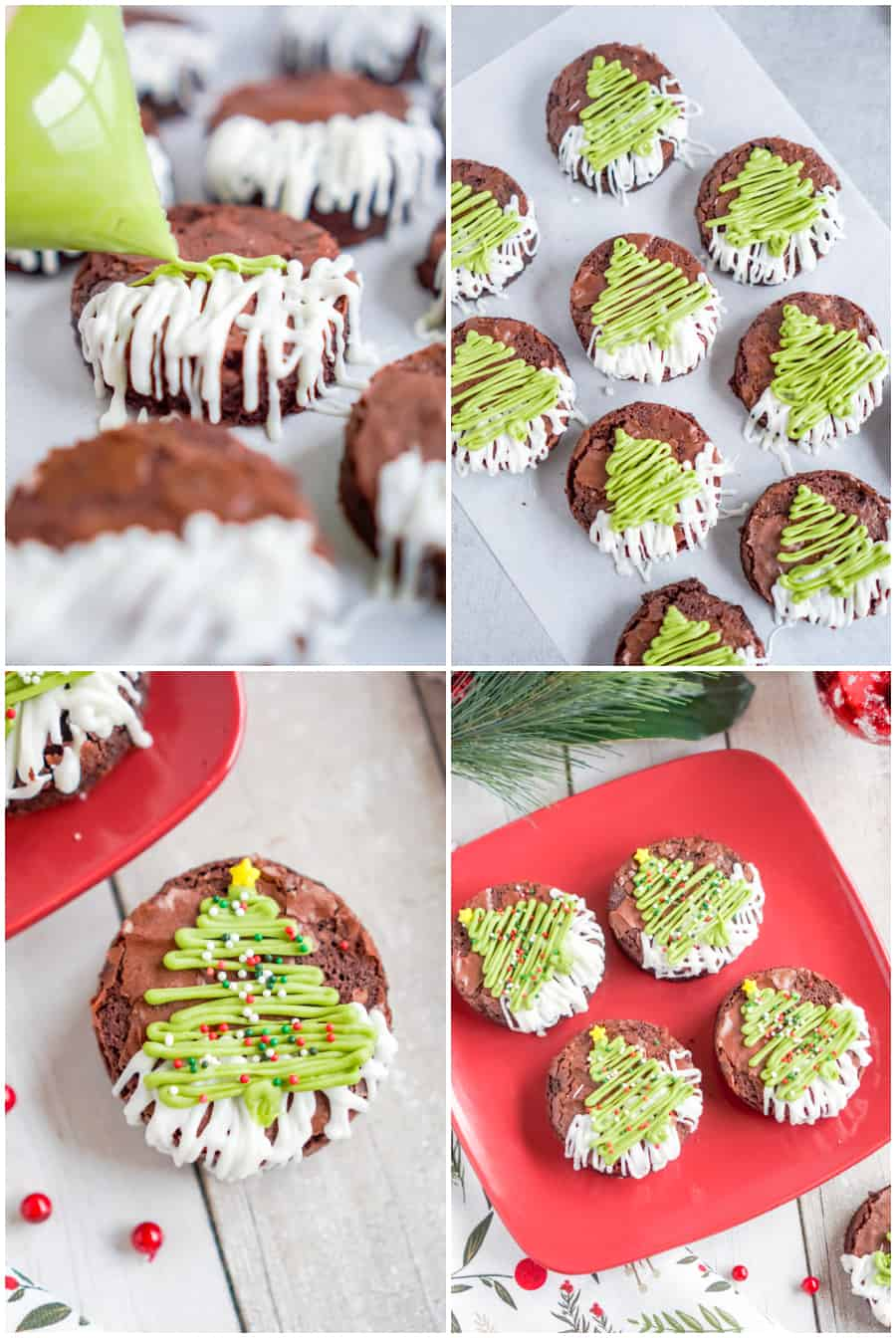 how to make christmas brownie trees