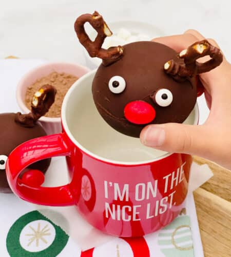 Rudolph Reindeer Christmas Hot Chocolate Bombs