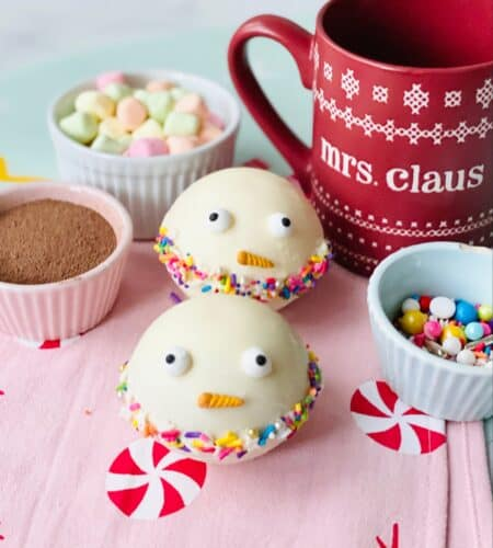 Snowman Christmas Hot Chocolate Bombs
