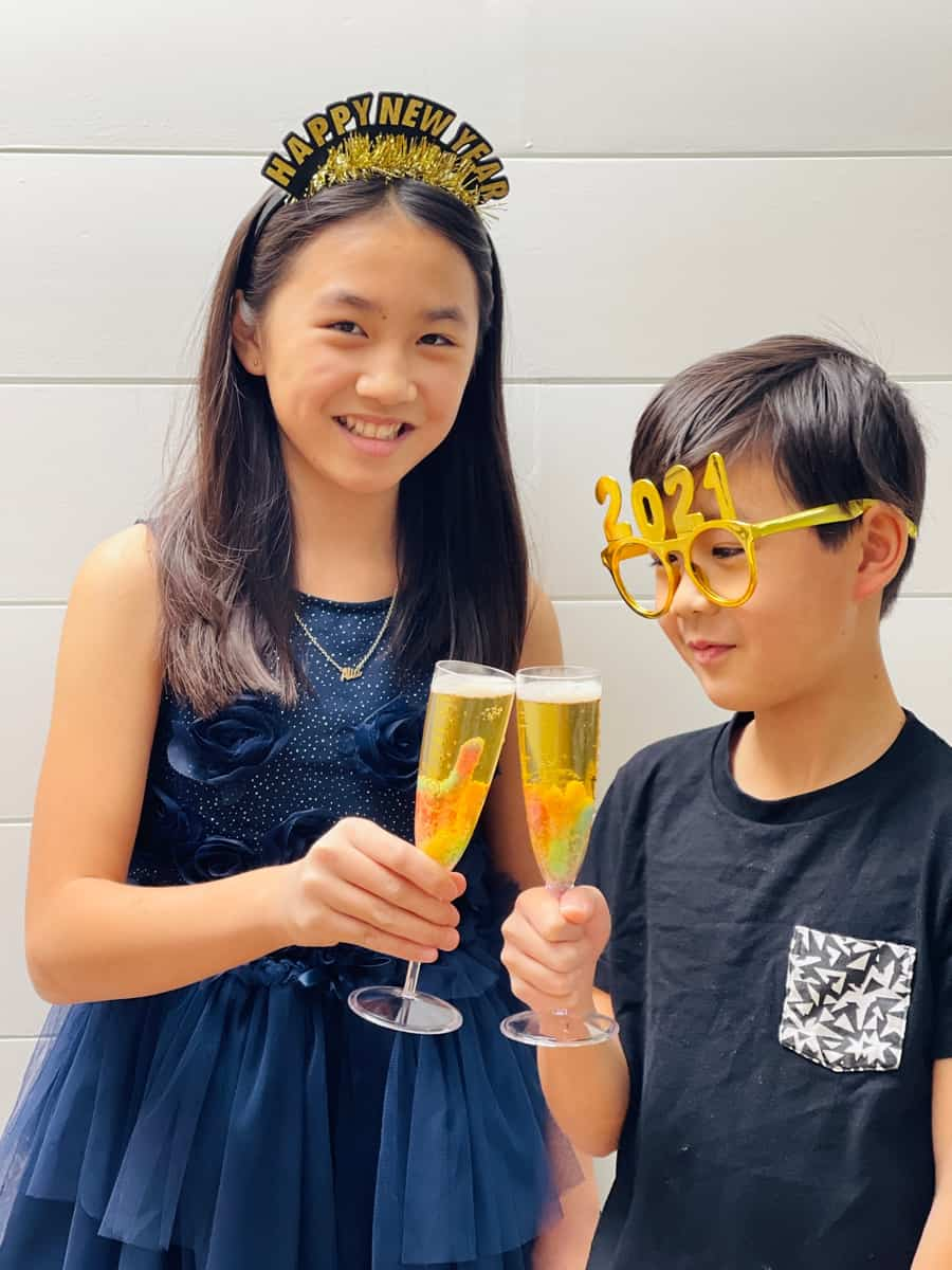Fun new years treat for kids Mocktails