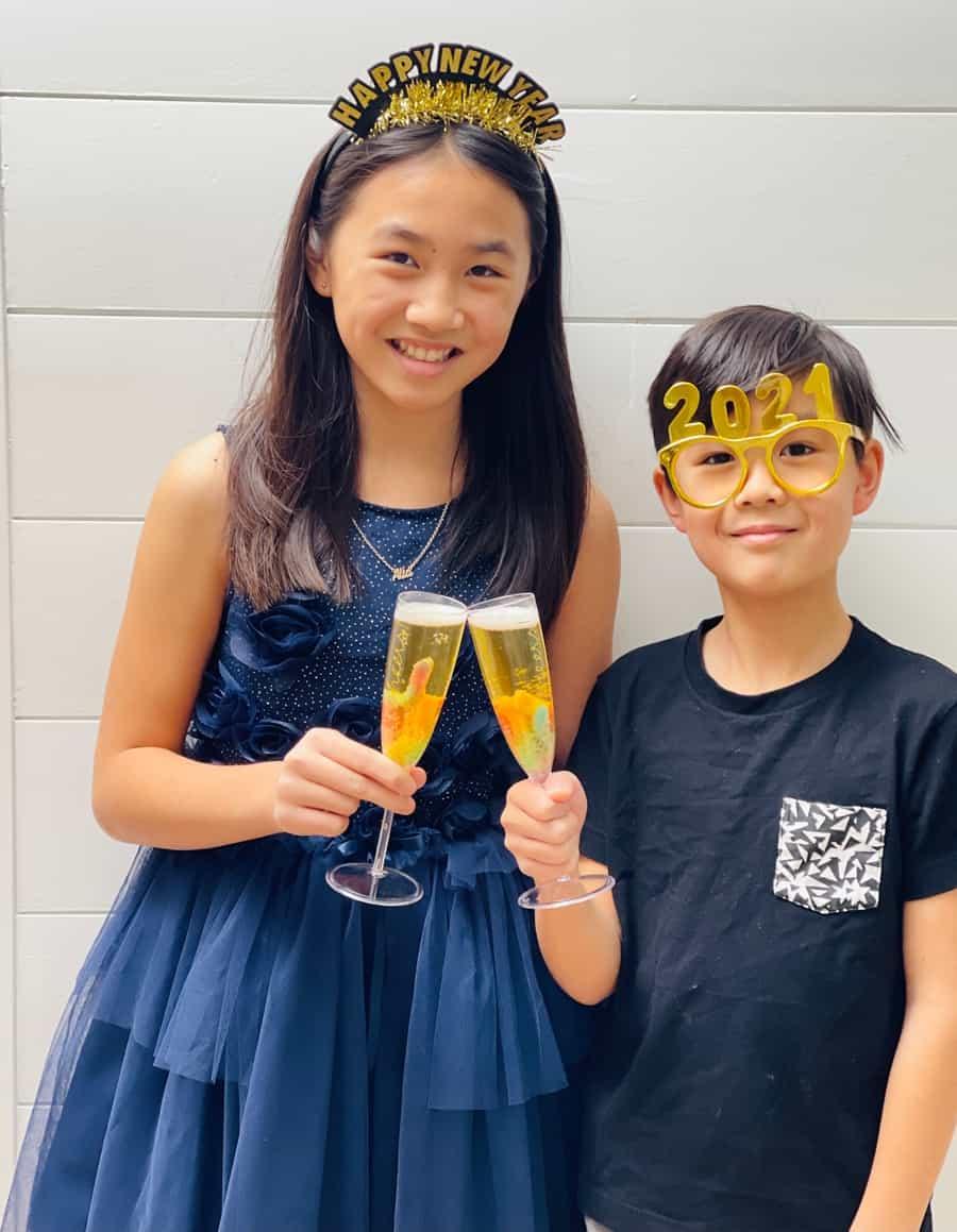 new year celebration mocktails for kids