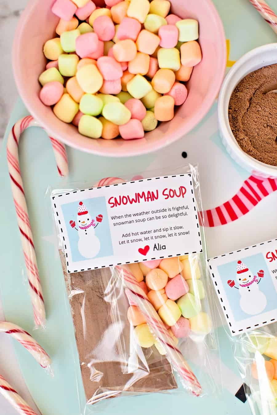 Snowman Soup Christmas Favors