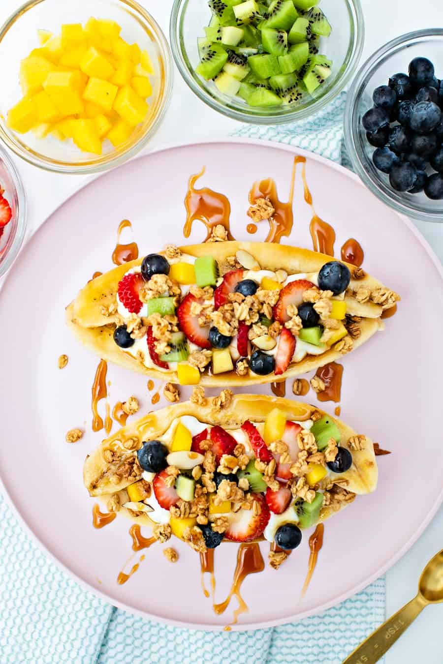 healthy banana split nutritious and easy kid snack